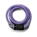 Squire Cable lock lilac, combinatie fietsslot 1.8m