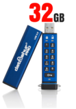 datAshur PRO beveiligde USB 3.0 stick met PIN code 32GB_