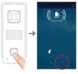 Draadloze deurbel met camera, recorder, wifi en app, APWIFIDS_