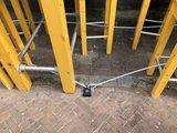 Sterke dikke Staalkabel met kunstof bescherming en ogen, 5 meter_