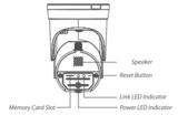 WiFi camera met lamp, APP en bewegingssensor GuardCam-DECO, zwart