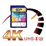 Silicon Power 64Gb SD Card, Superior Pro 4K SDHC-SDXC UHS-1 U3_