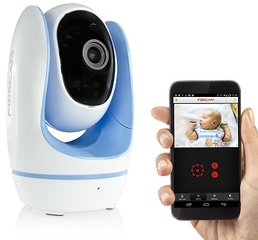 Fosbaby, babymonitor Wi-Fi 1MP camera, blauw