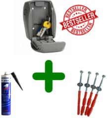 MasterLock 5415 sleutelkluisje + schroeven + Polymet kit, combi voordeel!