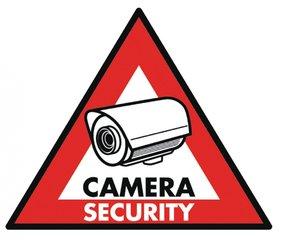 Sticker camerabewaking, camerabewakingssticker 5 stuks