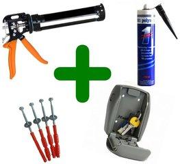MasterLock 5415 + schroeven + Polymet kit + kitspuit - Scherpe deal!