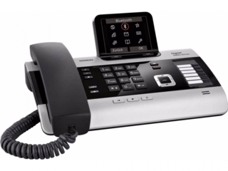 Gigaset DX800A all in one met 3 antwoordapparaten, ingebouwde DECT ontvanger en headset aansluiting