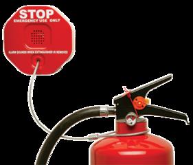 STI Sirene voor brandblusser met Nederlandse tekst