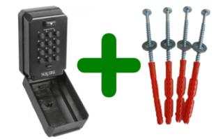Squire sleutelkluis, Keykeep 2 sleutelkluis met code + schroeven