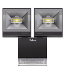 theLeda S20 BK, 2 LED straler met bewegingssensor, 10 Watt elk