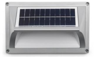 Solar wand-lamp, op zonne-energie, warm wit licht