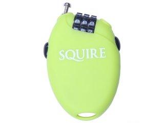 Wielrenners fietsslot Squire Retrac 2, kleur lime groen