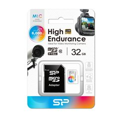 Micro SD card, SP High Endurance 32GB voor camera's