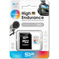 Micro SD card, SP High Endurance 64GB voor camera's, SP064GBSTXIU3V10SP