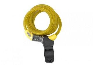 Squire Zenith 216 geel, combinatie fietsslot 1.8m
