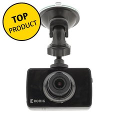 Dashcam Konig Full HD (1920x1080), 2.4 inch scherm zwart
