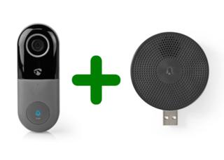 Wi-Fi videodeurbel met app en deurbelontvanger zonder abonnement