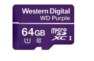 Geheugenkaart Western Digital MicroSDXC speciaal voor videobewaking 64GB, WDD064G1P0C