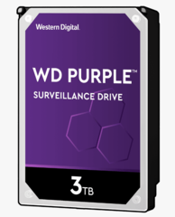 Harde Schijf 3TB 24/7 opslag, WD Purple WD30PURZ
