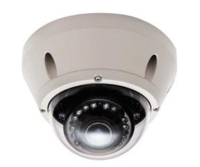 Vista vandaalbestendige Domecamera met 1000 TVL, varifocal lens 2,8-12mm