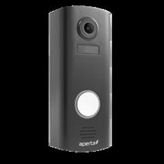 Aperta draadloze video deurbel, batterij Wi-Fi zwart deurbel met camera en app, APWIFIDSBLKBP2