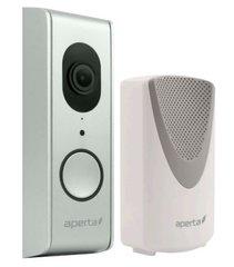 Aperta draadloze video deurbel,Wi-Fi deurbel met camera en app, kleur zilver, APWIFIDS2