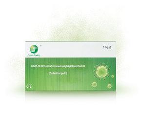 Corona antistoffen zelftest, complete sneltest kit op antilichamen IgM/IgG