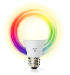 Nedis Wi-Fi Smart Bulb WIFILC11WTE27, E27 470lm 6W 40W Full Colour Dimbaar
