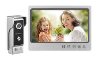 Wifi deurbel met camera en 9 inch monitor van Kivos