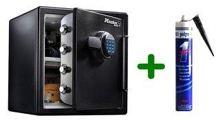 Masterlock LFW123FTC Extra grote veiligheidskluis met digitale combinatie en321 Polymet Kit, combi voordeel!