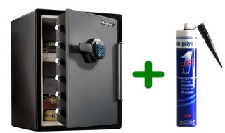 Masterlock LFW205FYC XXL veiligheidskluis met digitale combinatie met Polymet kit, combi voordeel!