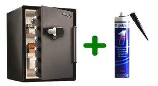 Masterlock LFW205TWC XXL veiligheidskluis met digitaal alarm met 321 Polymet kit, combi voordeel!