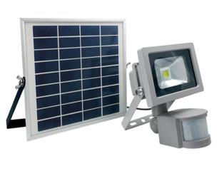 Bouwlamp op zonnepaneel met bewegingsmelder, as Schwabe