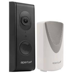 Aperta draadloze video deurbel,Wi-Fi deurbel met camera en app, kleur zwart, APWIFIDSBLK2