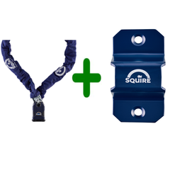 E-bike slot, ART 2 Squire SS50CS/G5 ketting 1500 mm inclusief muuranker Squire, WA500