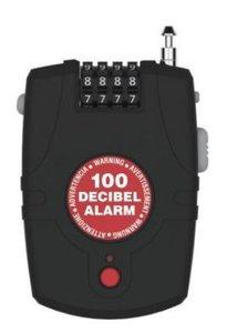 Racefiets Lock Alarm CSA Mini, kabelslot met alarm 2770
