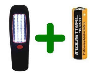 LED Looplamp met batterijen, TORCH-L-BOX02D
