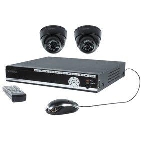 Beveiligingsset met 500GB DVR en 2 dome camera`s