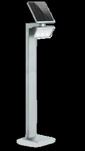 Solar, sensor LED lamp, zilver
