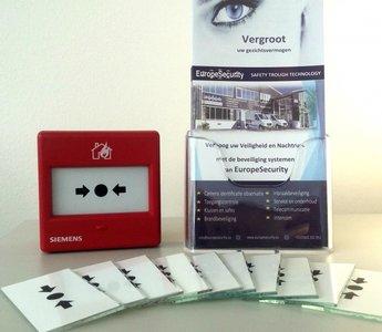 Breekglas voor handbrandmelder + Reset sleutels