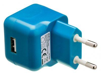 USB-lader blauw