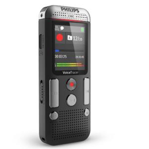 Philips DVT2510 digitale voice recorder met 2 mic stereo en kleurendisplay