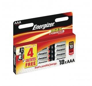 Energizer Alkaline Batterij AAA 1.5 Volt 18 stuks