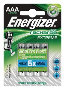Energizer Oplaadbare NiMH Batterij AAA 1.2 V Extreme 800 mAh