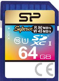 Silicon Power 64Gb SD card, Superior SDHC-SDXC UHS-1 U1