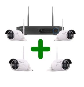 Draadloos camerabewaking systeem, incl. vier Full HD 1080P camera's goede draadloze beeldkwaliteit