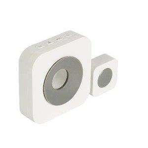 König draadloze deurbel set batterij gevoed 90 dB wit/grijs