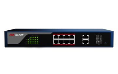 Hikvision DS-3E1310P-E, PoE switch met 8 poorten